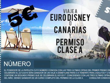 Sorteo de Viaje a Eurodisney o Tenerife y Permiso Clase A