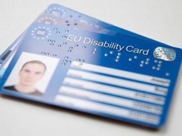 La Unión Europea elabora las Tarjetas Europeas de Discapacidad