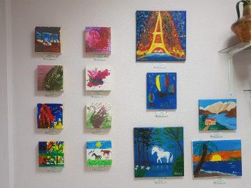 Cuadros de la V Edición de la Exposición «Acercando el arte al TEA»