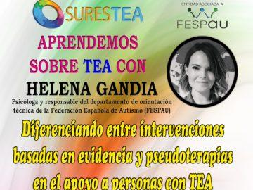 Jornada «Diferenciando entre intervenciones basadas en evidencias y pseudoterapias en el apoyo a personas con TEA»